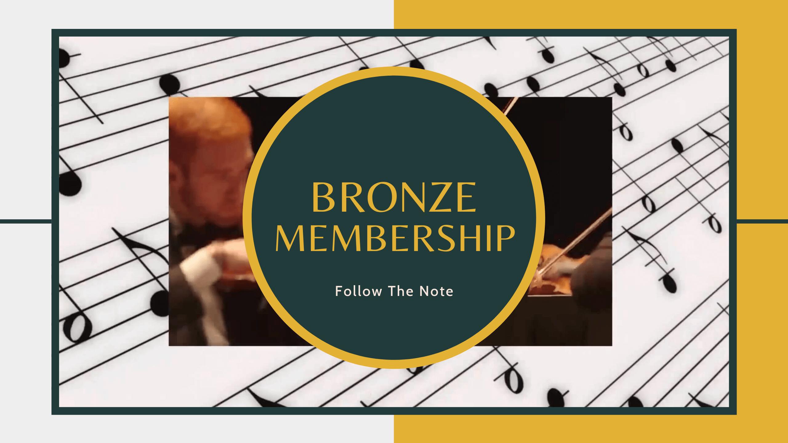 Follow The Note - Bronze Membership